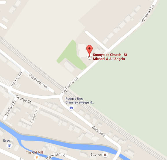 Location of Sunnyside Church, St Michael and All Angels, on Google maps